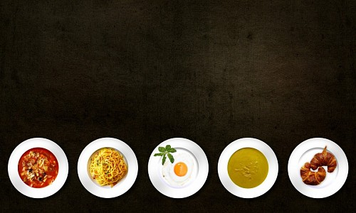 free images  Variety of foods with black background
