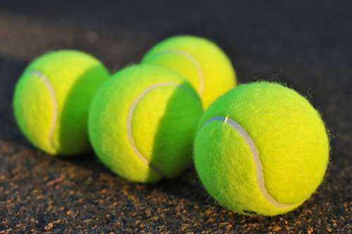ball, balls, tennis, four, green, sphere, game, sp