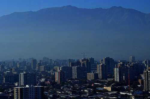 Chile, Santiago de Chile, Cityscape