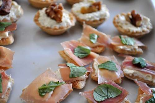 Canape Appetizer Salmon, Food, Smoked Salmo, Plate