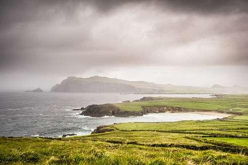 free images  ireland, island, landscape, coast, peninsula, ding