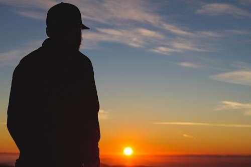 free images  Man at sunset
