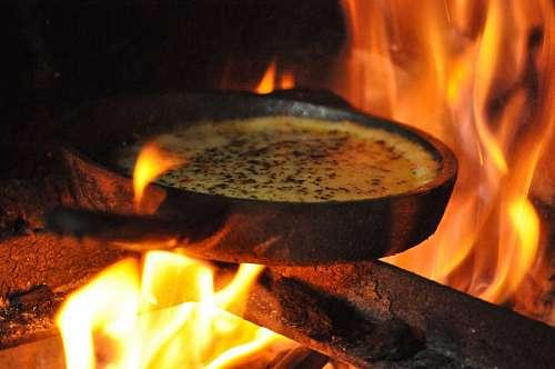 Provolone cheese, provolone, grill, coals, fire, h