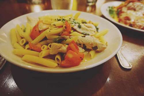 free images  Penne Rigate dish in restaurant