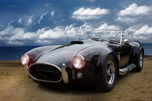 Classic Cobra Black Wallpaper Car