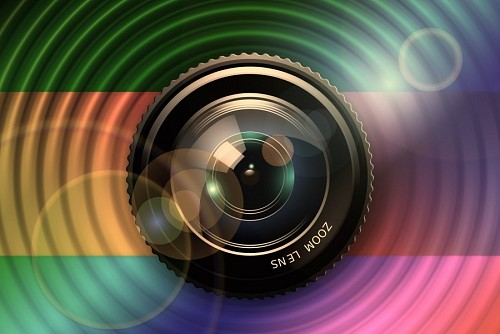 Reflex camera lens illustration