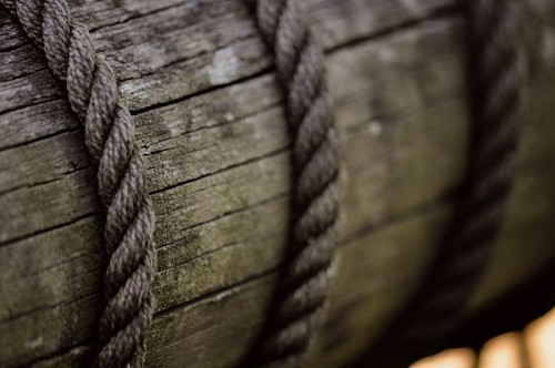 free images  Texture of rope on rustic wood