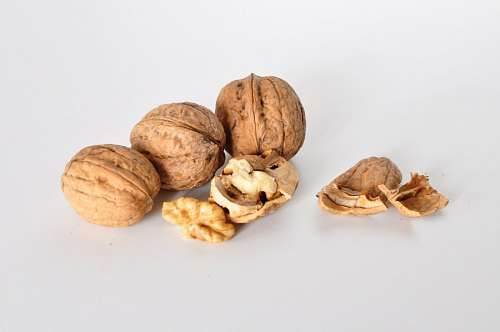 free images  nut, nuts, white background, food, fruit, dry frui