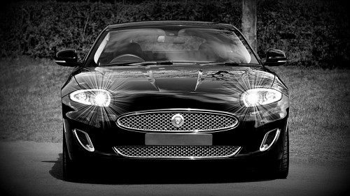 Car Jaguar black for wallpaper