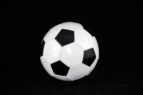 free images  Soccer ball with black background