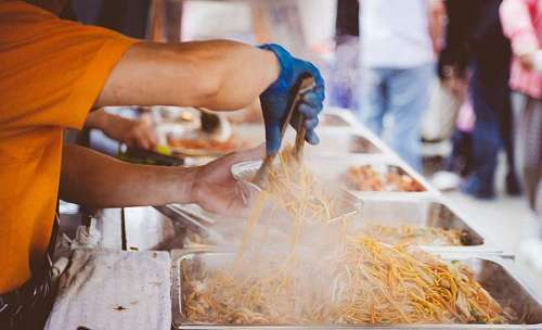 free images  Street Food - spaghetti
