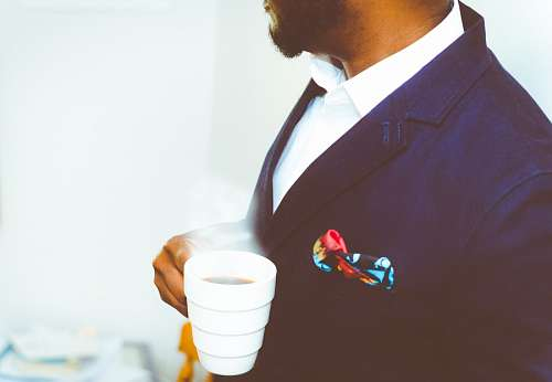 Gentleman drinking coffee