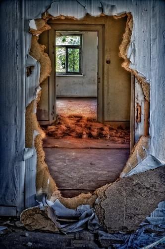 Room in ruins