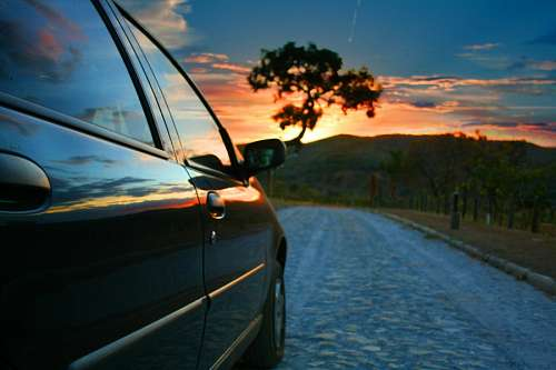 Travel at sunset