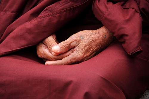 Buddhist Monk Hands