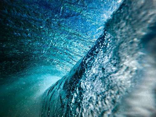 free images  Deep blue wave