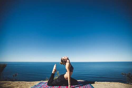 free images  Woman doing yoga exersices