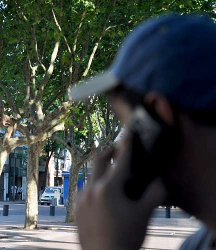Man talking by cellphone