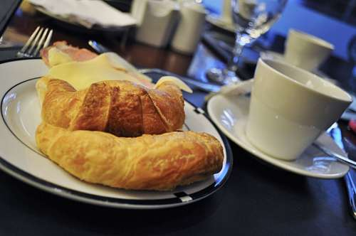 free images  Breakfast Croissants