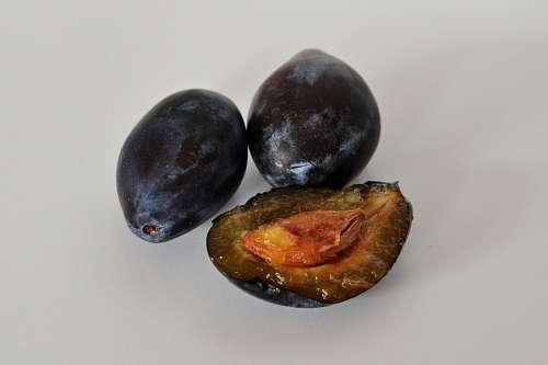 free images  plums, prunes, fruit, fruits, three, half cut, car