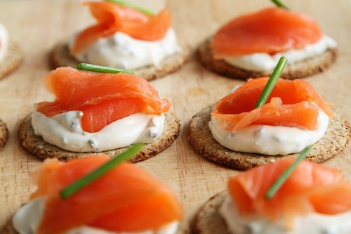 free images  Smoked salmon canapes