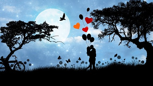 Hd love backgrounds In love with balloons