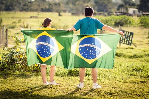 free images  Flag Brasilian family