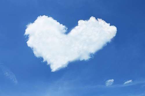 Cloud forming symbol of love