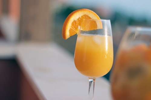 Orange juice squeezed