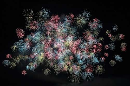 free images  Fireworks new year start