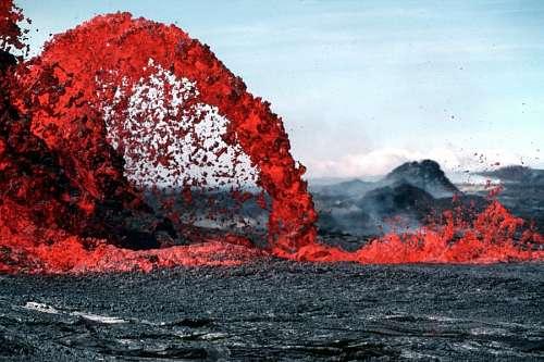 Vulcano eruption