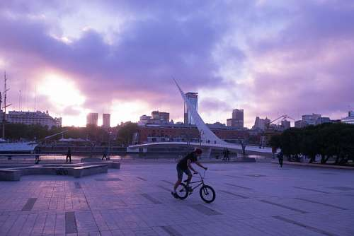 free images  Bridge of the Woman (Puente De La Mujer) at sunset, Buenos Aires, Argentina