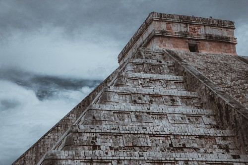Landscape of Chichen Itza, Mexico