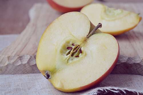 free images  Half red apple