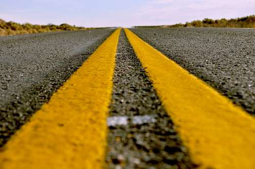 free images  route, line, road, yellow, yellow, asphalt, cement