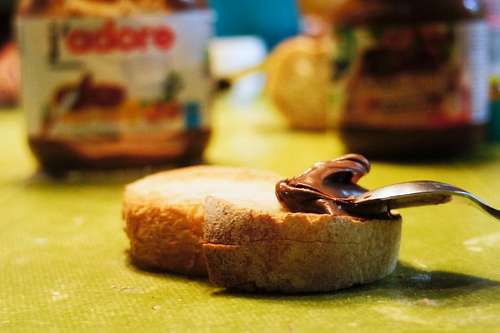 Toast with nutella