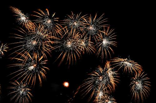 free images  Celebration with fireworks in New Year 2017