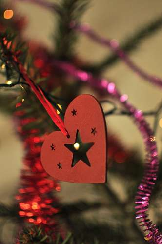 free images  Christmas ornament with stars and hearts