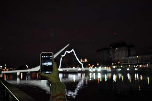 free images  Puente de la Mujer, Buenos Aires, Argentina, Night