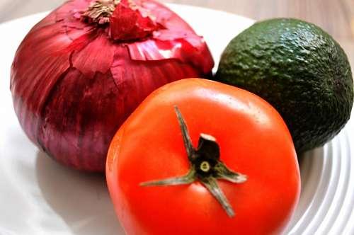 Tomato, Avocado, Onion