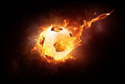 free images  Flaming Soccer Ball