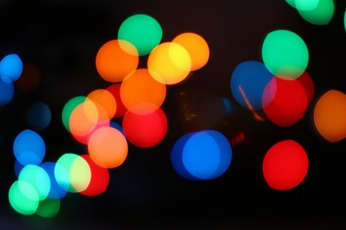 Colorful Bokeh HD Background