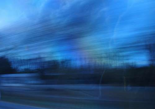 speed, sweeping effect, sunset, route, trip, trave