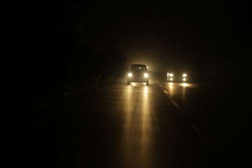 Car at highway in the night