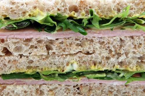 free images  Ham, lettuce sandwich