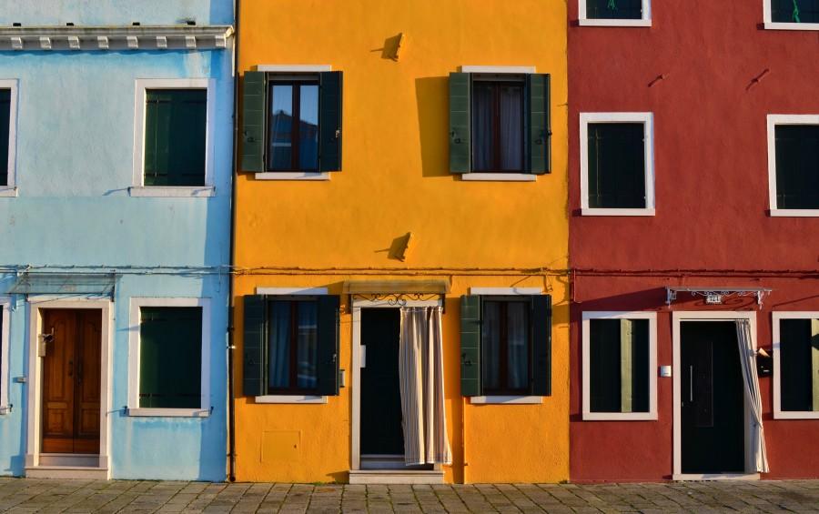 house, window, color, street, mexico, landscape, colorful