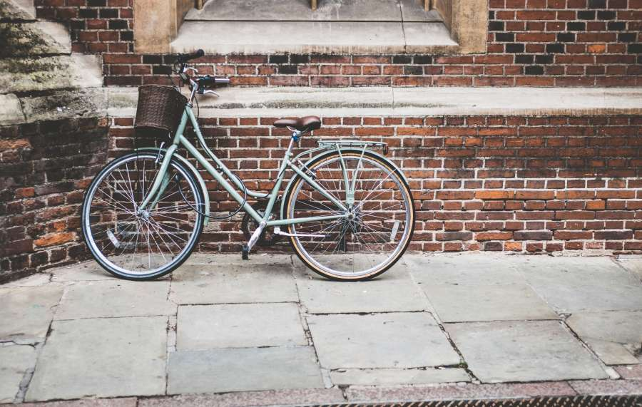 bicycle, old, path, urban, city, day, nobody,