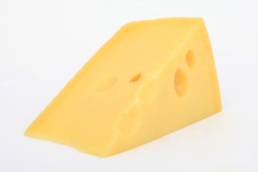 cheese, food, white background, slice, gruyere,