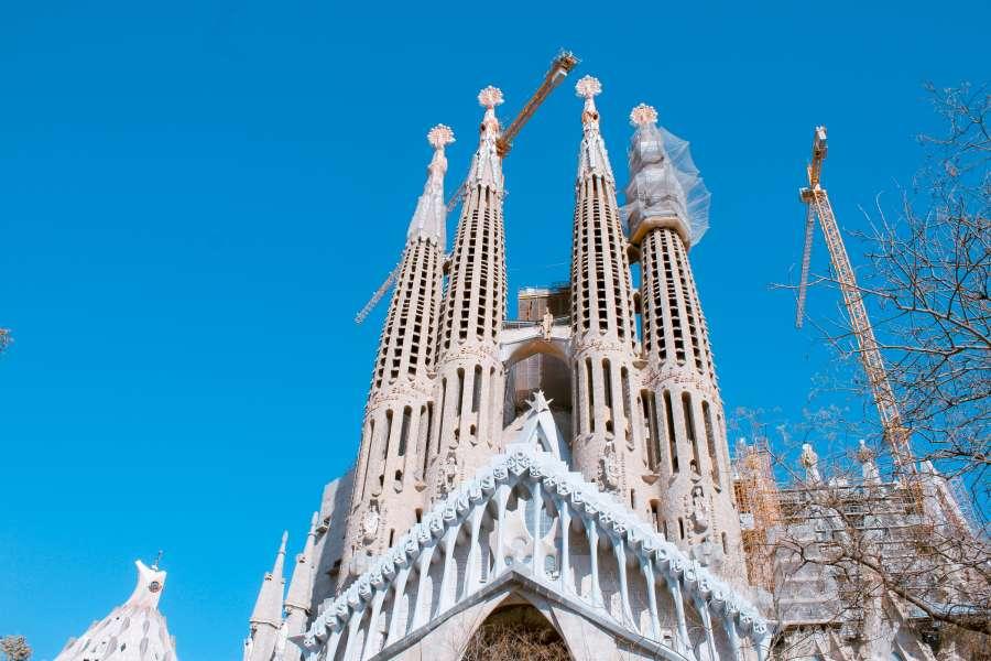 Sagrada Familia, cathedral, church, barcelona, ??spain, gaudi, architecture, europe, famous place,