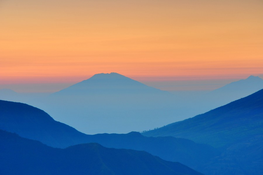 landscape, sunset, background, color, colors, mountain, mountains, orange, day, silhouette, soft, fuzzy,